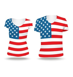 Flag shirt design of united states of america vector