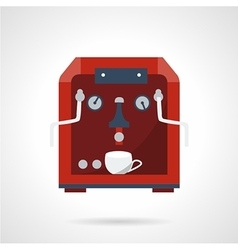 Flat style red coffee machine icon vector image