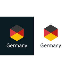 germany flag in flat style on white and black vector image