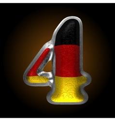 Germany metal figure 4 vector