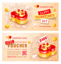 gift voucher template for holiday shopping vector image