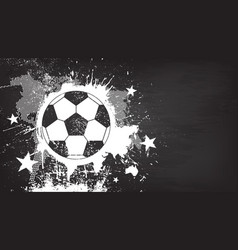 grunge abstract football background vector image