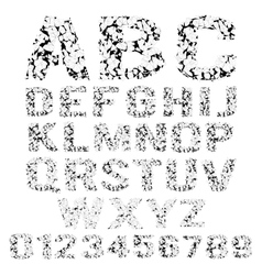 Grunge broken alphabet vector