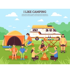 I Like Camping Composition vector