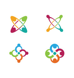 infinity adoption and community care logo vector image