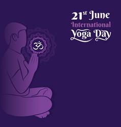 International yoga day poster design vector