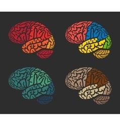 Isolated abstract colorful brain logo collection vector image