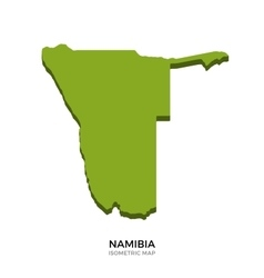 Isometric map of namibia detailed vector