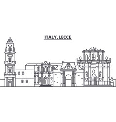 italy lecce line skyline vector image