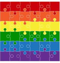 lgbt flag lgbt puzzle symbol pride lgbt vector image