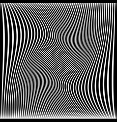 Lines with wavy swirling distortion effect vector