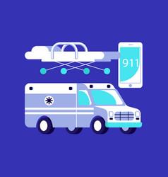 medical ambulance icons vector image