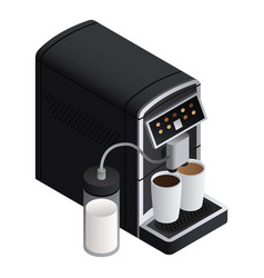 modern coffee machine icon isometric style vector image