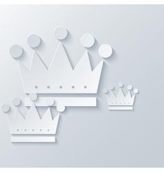 Modern crown light background vector