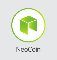 neo - icon of virtual currency vector image