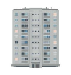 One nine-story eastern european building vector