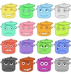 pans smiles vector image