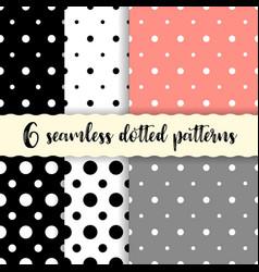 Polka dots seamless patterns vector