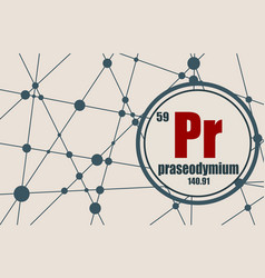 praseodymium chemical element vector image