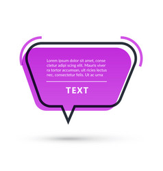 quote speech bubble isolated on white background vector image