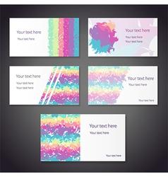 rainbow cards vector image