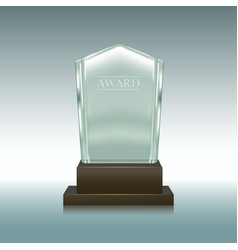 realistic glass or crystal prize panel vector image