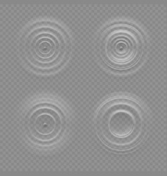 Realistic water ripple effects isolated vector