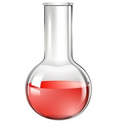 Red liquid ing beaker glass vector image