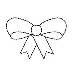 ribbon bow girl decoration ornament icon vector image