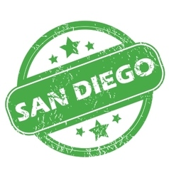 San Diego green stamp vector image