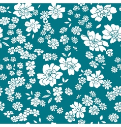 seamless floral pattern in retro style vector image