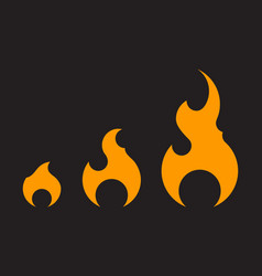 set fire icons template isolated collection flat vector image