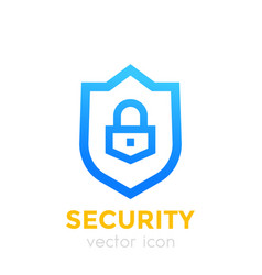 Shield icon security concept vector