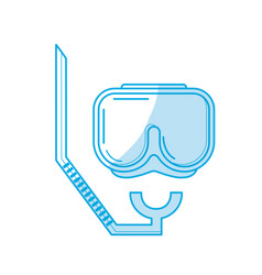 silhouette diving mask to be underwater adventure vector image