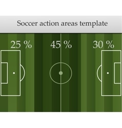 Soccer action areas template vector