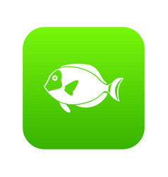 surgeon fish icon digital green vector image