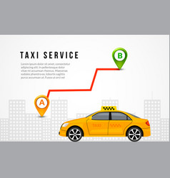 taxi service cab flyer template background taxi vector image
