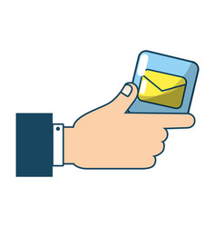 technology email cartoon vector image