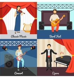 Theatre Concept Icons Set vector image