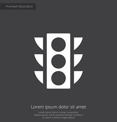 Traffic light premium icon vector