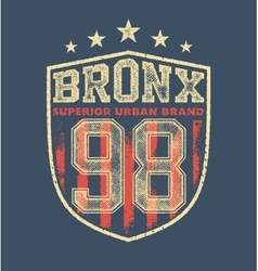 Vintage bronx typography vector