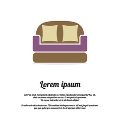 Vintage Brown Sofa vector