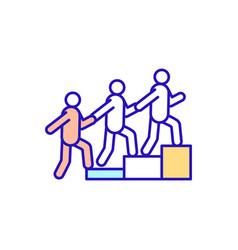 Work in teams rgb color icon vector