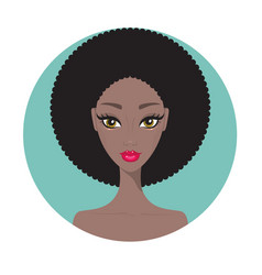 young african american woman beautiful girl vector image