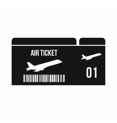 Airline boarding pass icon simple style vector image