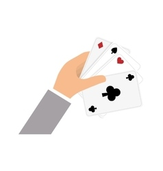 Casino cards game concept vector image