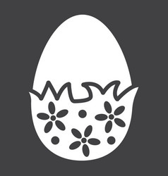 chocolate egg with wrapper glyph icon easter vector image