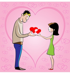 he and she vector image vector image