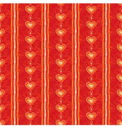 Seamless Red Heart Background vector image vector image