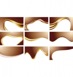 vector set chocolate backgrounds vector image vector image